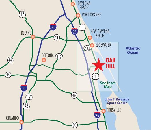 Center Hill Florida Map.Oak Hill Fish Camp Location Links